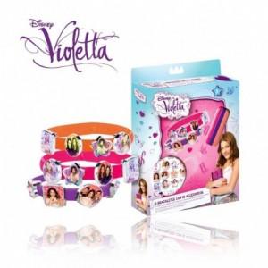 Ensemble de 3 bracelets en silicone avec 18 accessoires Violetta Disney V-Lovers WD95001