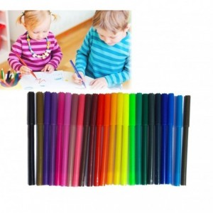 Kit 24 marqueurs de couleur 2 mm - feutres - TOP WRITE KIDS boîtier en plastique avec des compartiments