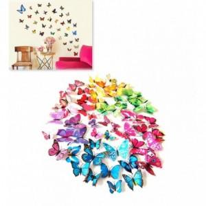 Kit 12 papillons 3D - stickers muraux différentes couleurs - décoration de la maison