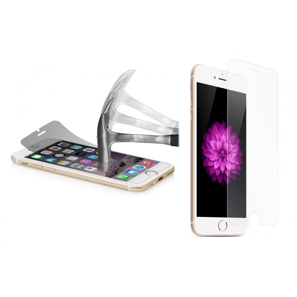 Film protecteur - protection écran téléphone en verre trempé transparent protège des chocs et des chutes - iPhone 5 / 5e / 5s