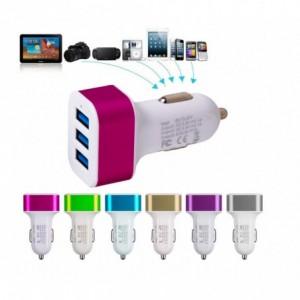 Adaptateur allume cigare 3 ports USB - voiture - pour chargeur USB - télèphone ordinateur gps