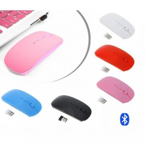 Souris optique PC portable usb sans fil 2,4 GHz fine et de différentes couleurs