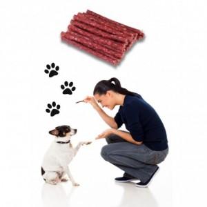 Sticks bâton de collations de viande séchée pour les chiens délicieux snack - animaux de compagnie Lot de 10 bâtons
