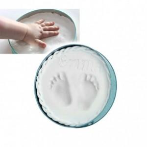 Kit de plâtre pour souvenir des empreintes des enfants faciles à utiliser la main et / ou à pied