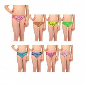Pack 3- 6 - 12 culottes - modèle LUCY avec des imprimés colorés pour les enfants de 2 à 13 ans