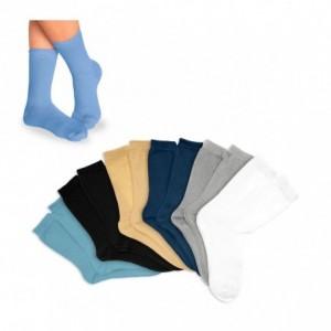 Pack de 3 - 6 à 12 chaussettes courtes coton enfants de couleur - dans différentes tailles