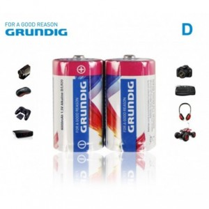 Paquet de D LR20 de 1.5V 6000 mAh Alcaline GRUNDIG