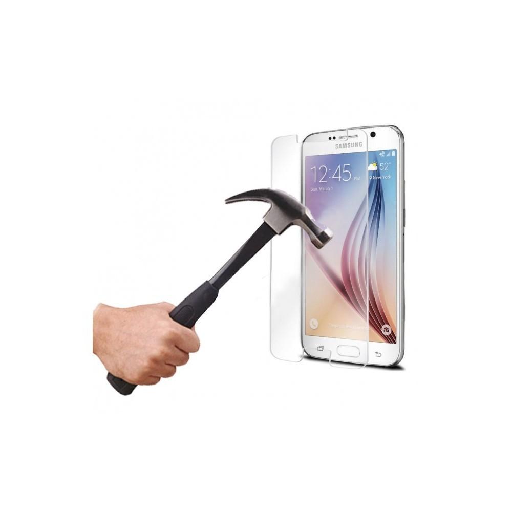Protection écran téléphone en verre trempé transparent SAMSUNG S6