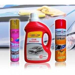 Kit 3 produits Schu-Ster nettoyage de voiture parfum spray / shampoing et brillant tableau de bord