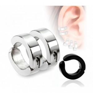 Kit 2 paires de boucles d'oreilles avec clip de fermeture - unisexe