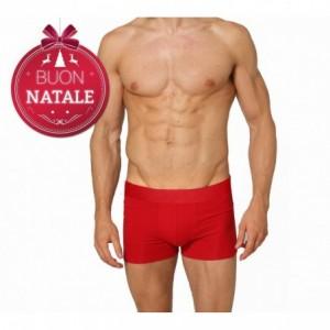 Boxer - shorty - homme - en coton rouge DASHER noël