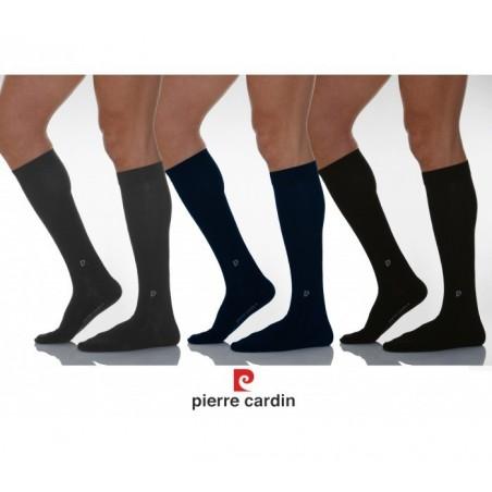 Pack de 3 paires de chaussettes hautes en coton PIERRE CARDIN - homme - PC100