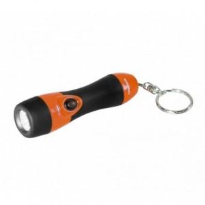 Mini lampe de poche 1 led - Grundig coloré avec un porte-clés et une poignée en caoutchouc 9 cm
