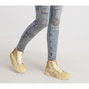 Chaussures Baskets modèle FRANKIE RAISE femmes - en similicuir plate-forme de 3,5 cm