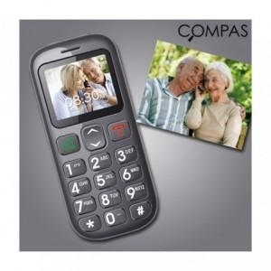 Téléphone portable - GSM pour personnes âgées - Compass E07 dual - bouton SOS