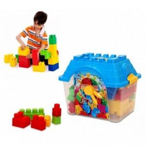 Set de 24 pièces - maxi coffre coloré en forme de maison avec horloge- click clock box - Briques empilables - Lego 114510
