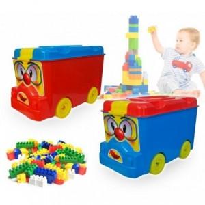 Set de 64 pièces - coffre coloré en forme de camion - Briques empilables - Lego 114497