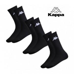 Pack 3 paires de chaussettes longues - KAPPA 302S1L - coton et coutures fines