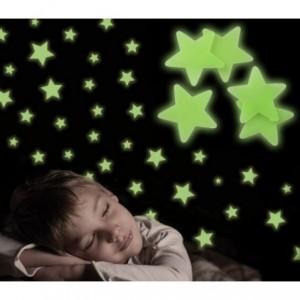 Pack de 24 pièces - étoiles, planètes et lune - adhésifs fluorescent -Decoration