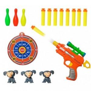 Jeu Enfant - Pistolet - Gun (comprend des balles et la cible)2913 -