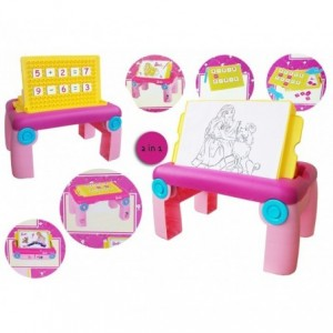 Table multifonctions (dessin + maths) BARBIE 2119 rose - jouets pour les garçons et les filles - stimulation et d'apprentissage
