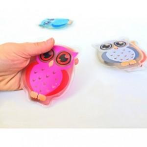 Mini bouillotte - de poche - Fantaisie HIBOU - chauffage rapide