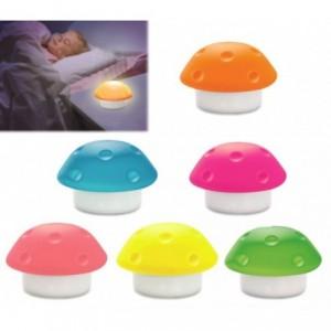 Lampe de nuit - en silicone - 3 LED - en forme de champignon pour enfant - Décor