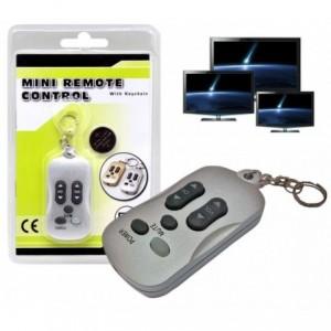 Porte clé 2 en 1 fonction de télécommande pour la télévision - Argent 1092