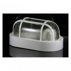 Lumière - Lampe - Applique OVAL grille E27 DHOMTECK (idéal pour le jardin) - Éclairage extérieur