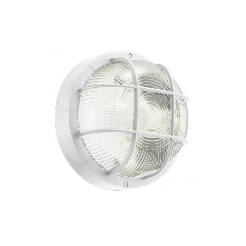 Lumière - Lampe - Applique RONDE grille E27 DHOMTECK (idéal pour le jardin) - Éclairage extérieur