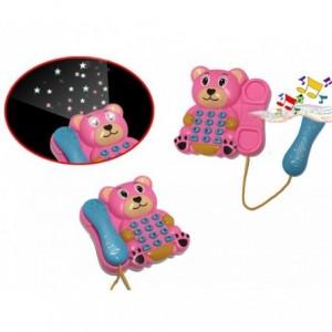 Téléphone enfants d'ours - lumière et son - projecteur combiné extensible 374655