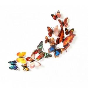 Kit 12 papillons 3D stickers muraux différentes couleurs décoration de la maison
