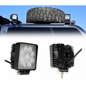 FARD -27w - 9 LED lumière froide / Convient pour voiture - camion - bateau (carré)
