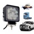 FARD -27w - 9 LED lumière froide / Convient pour voiture -camion -bateau (carré)