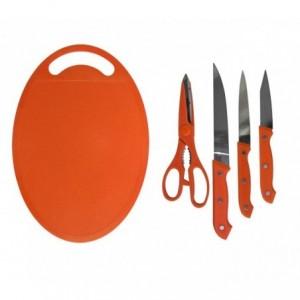 Set 5 pièces (couteaux + ciseaux + hachage) - différentes couleurs -ustensiles de cuisine