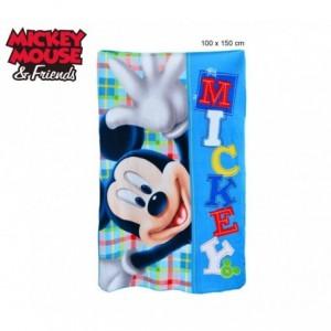 Couverture polaire enfants - garçons et filles - Mickey Mouse (100 x 150 cm) - 0925 Disney