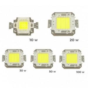 Ampoule de remplacement pour Fard LED 6500K lumière blanche froide de 10 à 20 - de 30 à 50 ou 100 watts