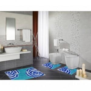 Ensemble de 3 tapis de salle de bain décor FLOWER - 2624