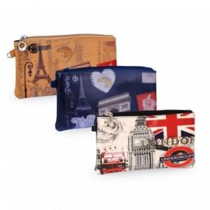 HOLLY C. Porte monnaie - Sac à main - pour les accessoires et la monnaie en Voyage -différentes couleurs - style rétro