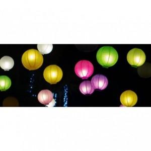 - 137148 ciel Lanterne RONDE approprié pour intérieur et extérieur (Pack de 5 pièces)