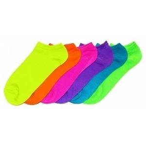 N703-1 - Pack de 6 paires de chaussettes SUMMER NEON femme Taille 35 / 40