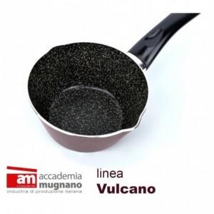VUCNC 14 - Poêle conique anti adhesive - Casserole - 14cm ligne Accademia Mugnano effet de pierre Vulcano