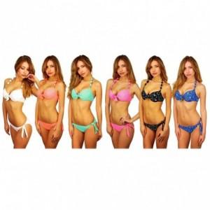 KL204 MARGOT - Bikini pour les femmes en détail col cravate par MWS AHEAD - Collection Sensation