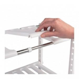 Organisateur modulaire 2 étagères pour intérieur d'armoires et de meubles (50X70X40 CM)