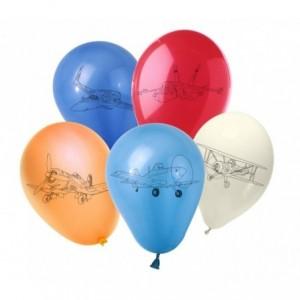 PB10066 - Lot de 30 ballons pour marquer AVIONS / PLANES - Décoration pour les fêtes d'enfants