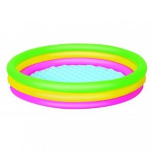 51042 - Piscine gonflable 3 anneaux - Bestway - 170 x 53 cm revêtement réfléchissant