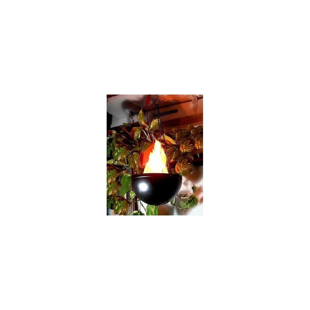 Lampe forme de flamme - jardins pub local - lampe externe