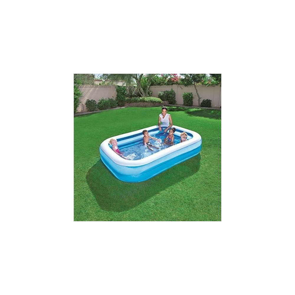 54006 piscine rectangulaire vinyle gonflable bestway for Piscine rectangulaire bestway
