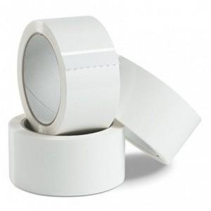6 pcs emballage ruban adhésif 50 mm x 132 m - Blanc - MADE IN ITALY