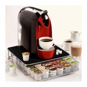 Distributeur de capsules de café - port métallique - capacité 40 capsules - de conception post-moderne 4 726 104